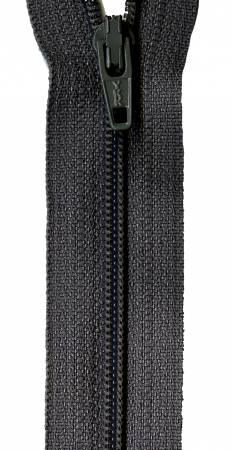 Zipper - Charcoal 14in, by YKK for Atkinson Designs