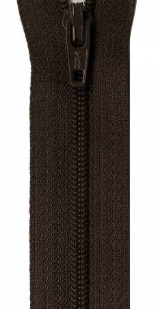 Zipper - Black Walnut 14in, by YKK for Atkinson Designs