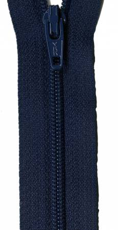 Zipper - Navy Blue 14in, by YKK for Atkinson Designs