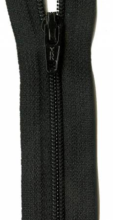 22in Zipper 6 per pack Basic Black