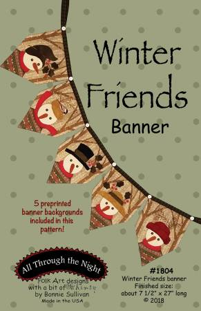 Winter Friends Snowman Banner