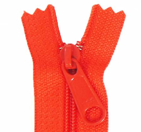 Aunties Two 14 Single Slide with Large Pull Zipper Closed End Clementine - ATZ14CLEM