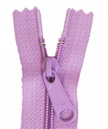 Aunties Two 14 Single Slide with Large Pull Zipper Closed End Lilac - ATZ14LILA