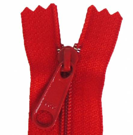Aunties Two 14 Single Slide with Large Pull Zipper Closed End Red - ATZ14RED