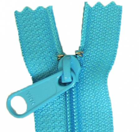 Aunties Two 14 Single Slide with Large Pull Zipper Closed End Turquoise - ATZ14TURQ