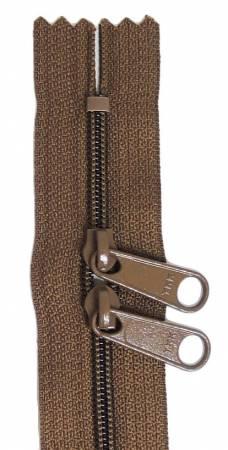 24in Chocolate Zipper Double Slide