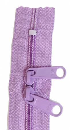 Handbag 24in Lilac Zipper Double Slide
