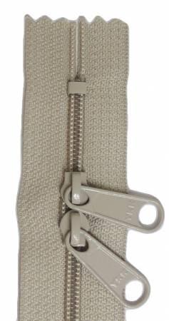 24in Tan Zipper Double Slide