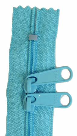Handbag Zipper 24 Turquoise  Double Slide