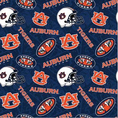 NCAA Auburn Tone on Tone Cotton