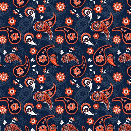 Auburn University Paisley Cotton