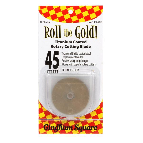 45mm Roll the Gold Titanium Rotary Blade
