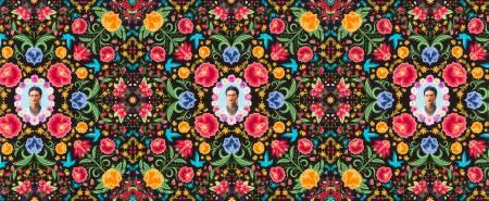 Frida Kahlo - Black Frida Kahlo Damask