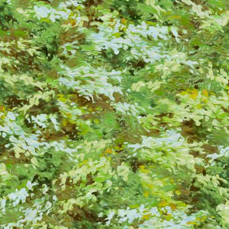 P&B Textile Autumn Tranquility Green Texture Digitally Printed PB092719