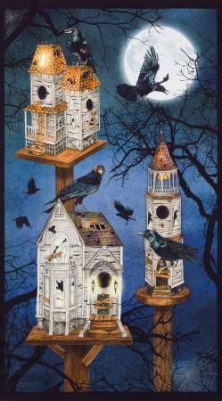 Spooky Raven Moon House Panel -18483-282