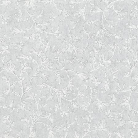 WINTER WHITE FLORAL VINE ICE METALLIC