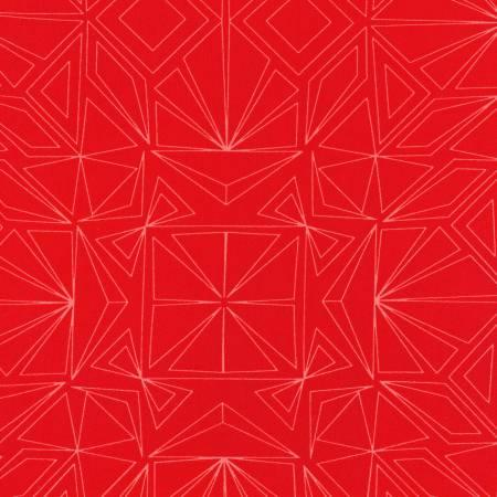 Red Fractal 108in Wide Back