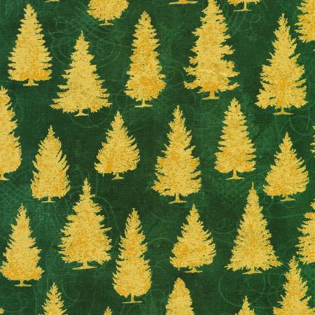 Winter's Grandeur w/Metallic Green AXBM-19334