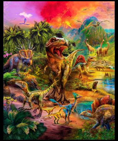 Picture This - Wild Dinosaurs 108 Wide Panel: 89 x 108