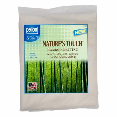 Pellon Natures Touch Bamboo Blend Batting w/Scrim Twin-Sized 72in x 90in