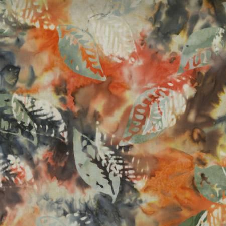 Aspen Leaves Batik Tonga-B4391 Aspen