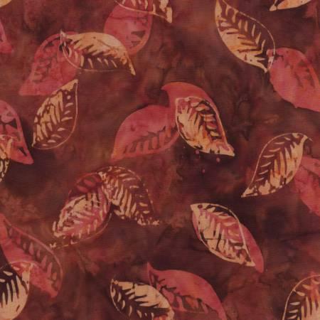 Dark Red Leaves B4391 Batik