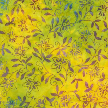 Zest Batik Yellow with Flowers