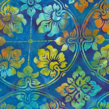 TT- Sapphire Batik Large Flower Medallions