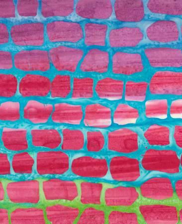 Timeless Treasures Brick Tropical Batiks Border