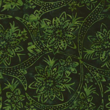 Timeless Treasures Tonga Batik B6875 Forest Holiday floral