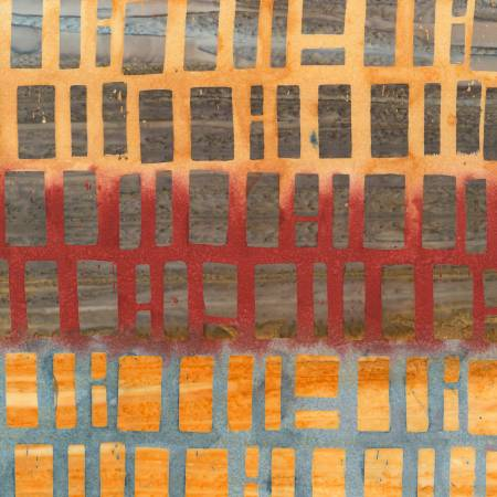 Timeless Treasures - Clay Brick Batik -  B7300 - Chicago