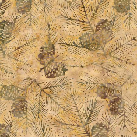 TONGA BATIK - NATURE'S LODGE: OAK