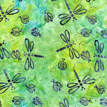Citron Fading Dragonflies Batik
