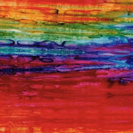 Rainbow Landscape Stripes Batik