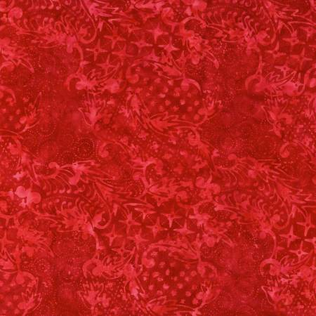 Playful Red Batik