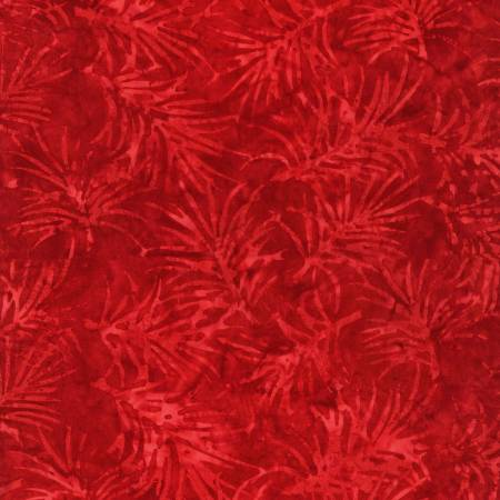 Tonga Celebrity - Red Spikey Leaves Water Marks