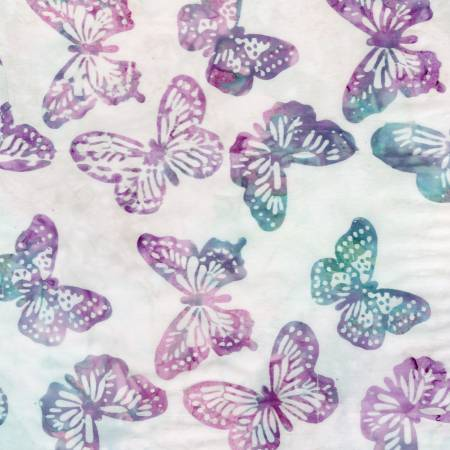 Tonga Batik Icing - Orchid Stamped Butterflies