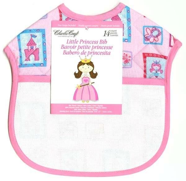 Ready To Stitch Quilted Baby Bib Princess