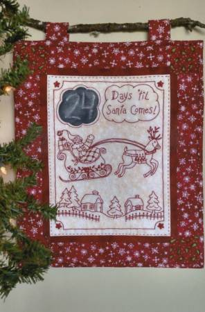 Days 'til Santa Comes Machine Embroidery CD