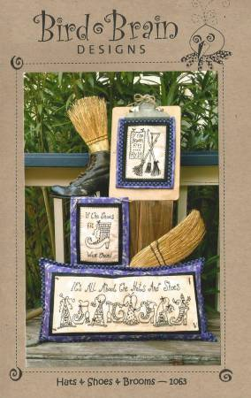 Hats & Shoes & Brooms Pattern