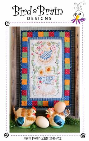 Farm Fresh Eggs Machine Embroidery