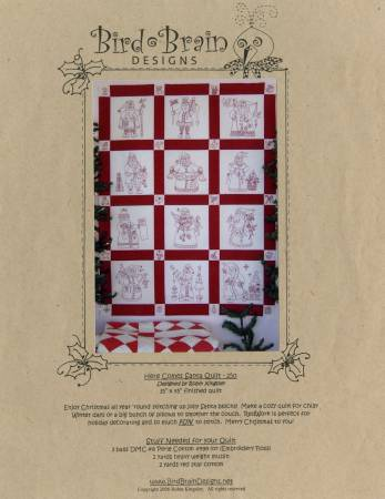 Here Comes Santa Quilt Pattern - Bird Brain Designs