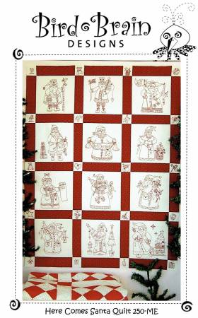 Here Comes Santa  Quilt Machine Embroidery CD
