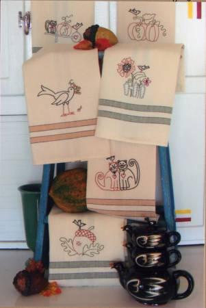 Harvest Tea Towels Pattern/Bird Brain Designs