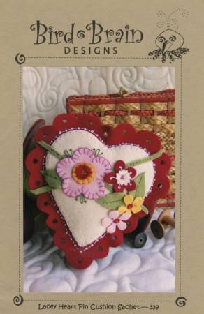 Lacey Heart Pincushion Sachet Pattern