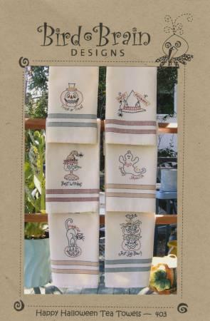 Happy Halloween Tea Towel Pattern/Bird Brain Designs