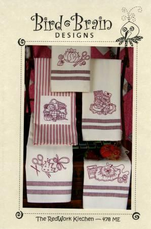 CD Redwork Kitchen Machine Embroidery