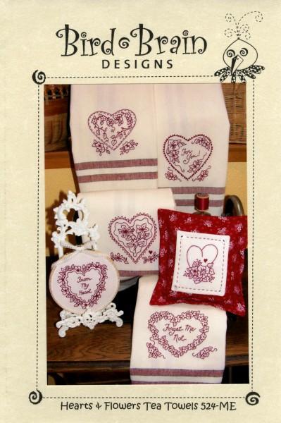 Hearts & Flowers Tea Towels @