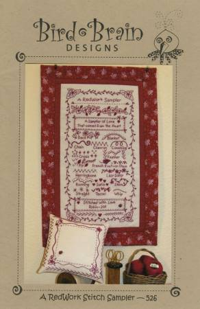 Redwork Stitch Sampler