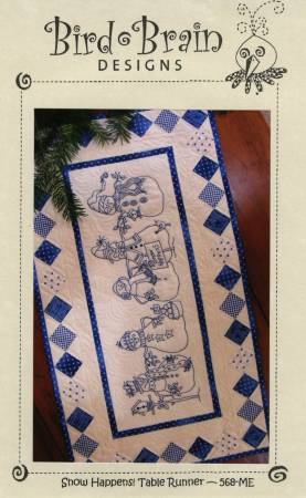 CD Snow Happens! Table Runner Machine Embroidery